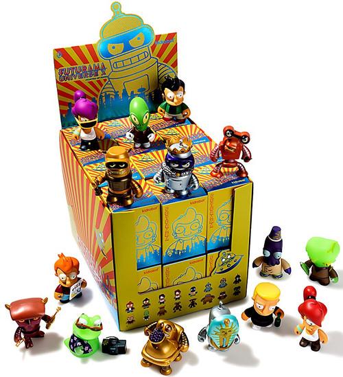 Futurama Vinyl Mini Figure Series 2 Universe X 3-Inch Mystery Box [24 Packs]