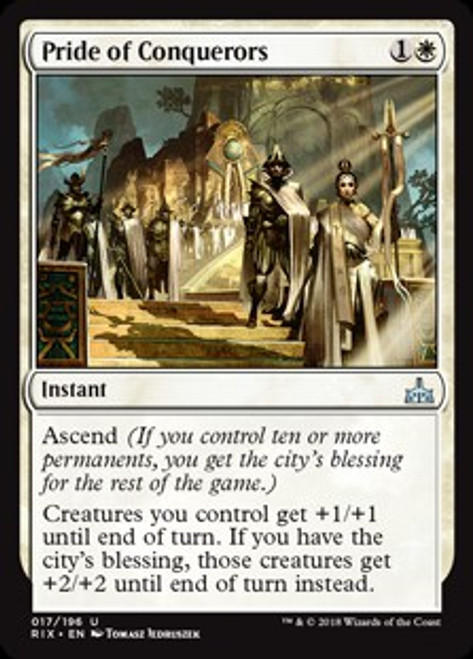 MtG Rivals of Ixalan Uncommon Pride of Conquerors #17