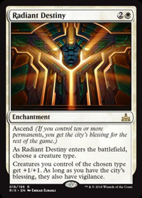 MtG Rivals of Ixalan Rare Radiant Destiny #18