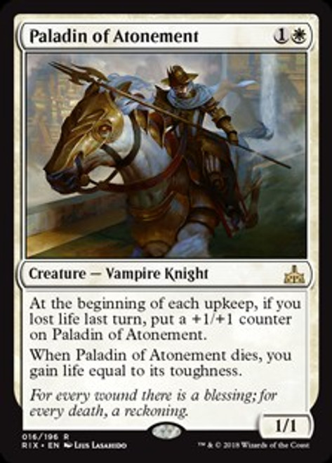 MtG Rivals of Ixalan Rare Paladin of Atonement #16