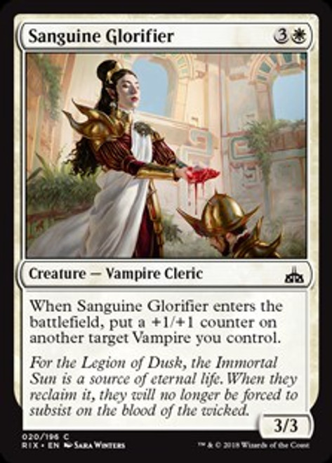 MtG Rivals of Ixalan Common Sanguine Glorifier #20