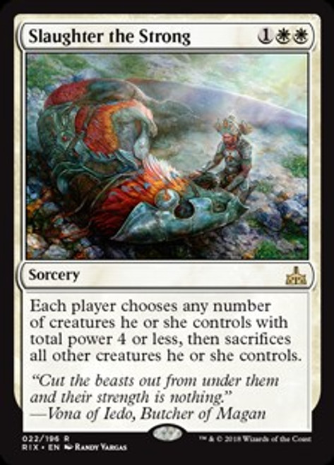 MtG Rivals of Ixalan Rare Slaughter the Strong #22