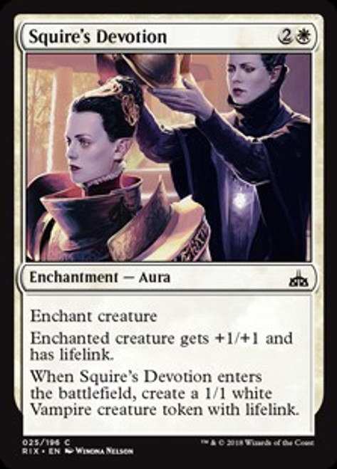 MtG Rivals of Ixalan Common Squire's Devotion #25