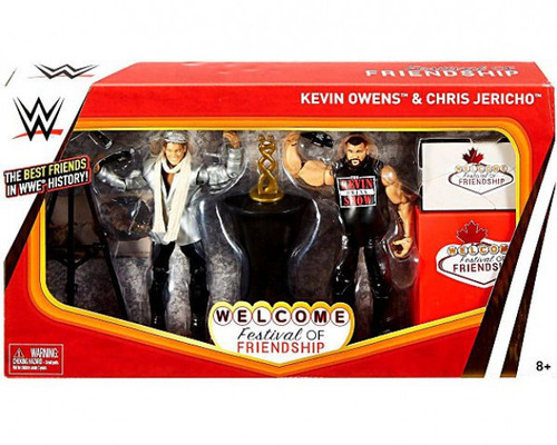 WWE Wrestling Battle Pack Epic Moments Kevin Owens & Chris Jericho Action Figure 2-Pack [Festival of Friendship]