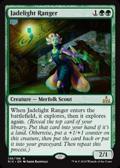MtG Rivals of Ixalan Rare Jadelight Ranger #136