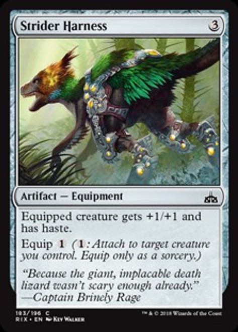MtG Rivals of Ixalan Common Foil Strider Harness #183