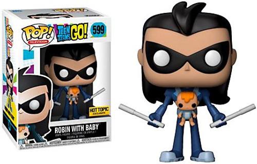 Funko Teen Titans Go! POP! TV Robin with Baby Exclusive Vinyl Figure #599