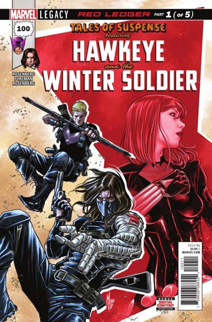 Marvel Comics Tales of Suspense Marvel Legacy #100 Hawkeye and the Winter Solider Comic Book
