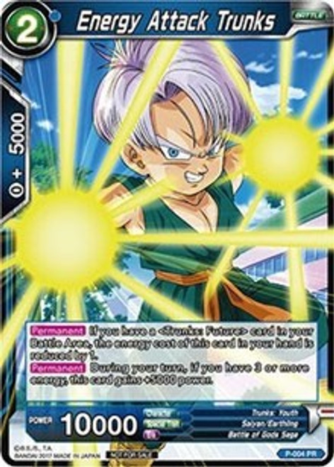 Dragon Ball Super Collectible Card Game Tournament Pack 1 Promo Energy Attack Trunks P-004