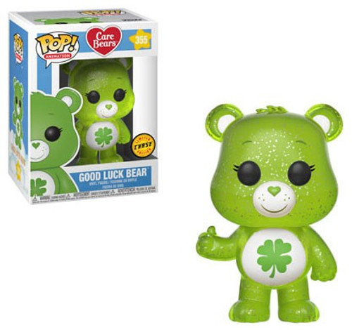 Funko Care Bears POP! Animation Good Luck Bear Vinyl Figure #355 [Translucent Glitter Chase Version]