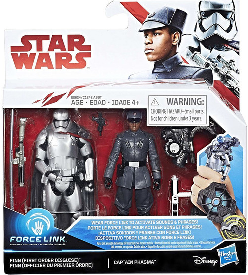 Star Wars The Last Jedi Force Link Finn (First Order Disguise) & Captain Phasma Exclusive Action Figure 2-Pack