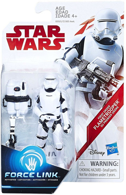 Star Wars The Last Jedi Force Link First Order Flametrooper Exclusive Action Figure [Firing Pose]