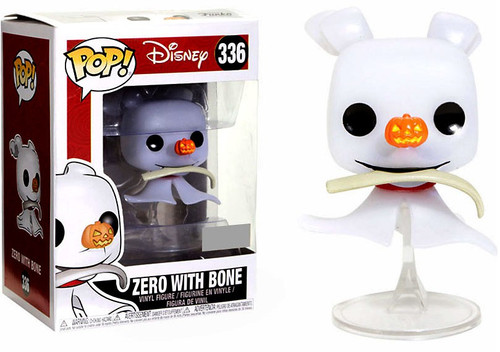 Funko Nightmare Before Christmas POP! Disney Zero with Bone Exclusive Vinyl Figure #336