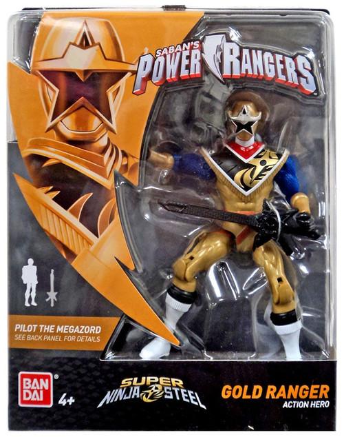 Power Rangers Super Ninja Steel Gold Ranger Action Figure