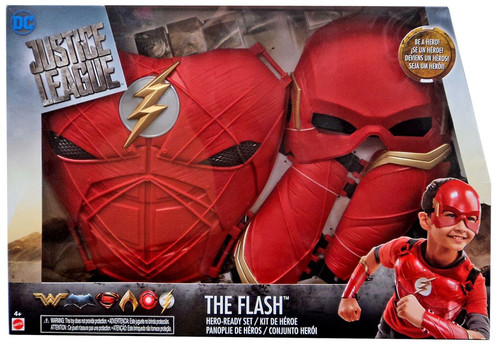 DC Justice League Movie The Flash Exclusive Hero Ready Roleplay Set