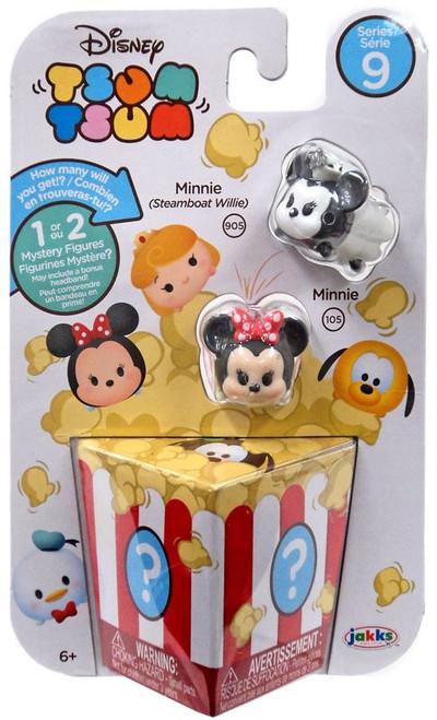 Disney Tsum Tsum Series 9 Minnie (Steamboat Willie) & Minnie 1-Inch Minifigure 3-Pack #905 & 105