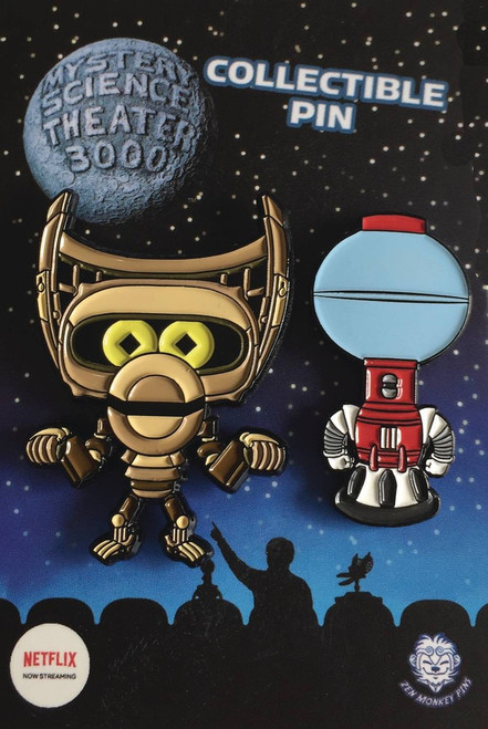 Mystery Science Theater 3000 Tom & Crow 1.65-Inch Lapel Pin Set