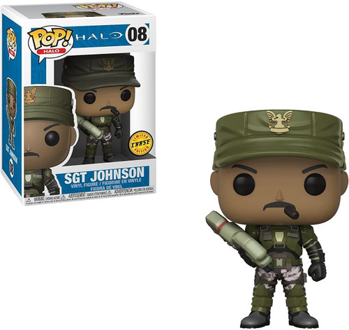 Funko POP! Halo Sgt. Johnson Vinyl Figure #08 [With Cigar, Chase Version]