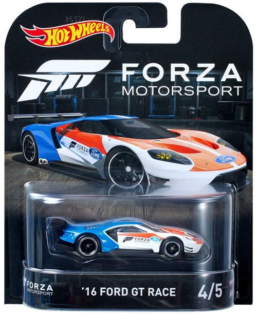 Hot Wheels Forza Motorsport '16 Ford GT Race Diecast Car #4/5