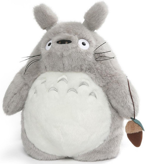 Studio Ghibli My Neighbor Totoro Gray Totoro 15.5-Inch Plush Backpack