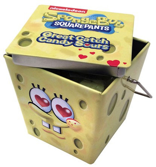 Spongebob Squarepants Great Catch Candy Sours Candy Tin