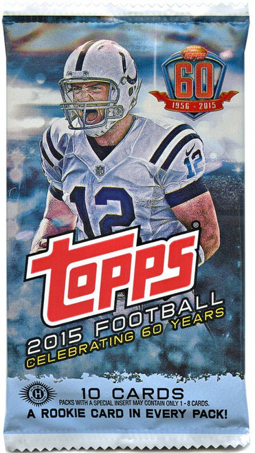 NFL Topps 2015 Football Trading Card HOBBY Pack [10 Cards, 1 Rookie Per Pack!]