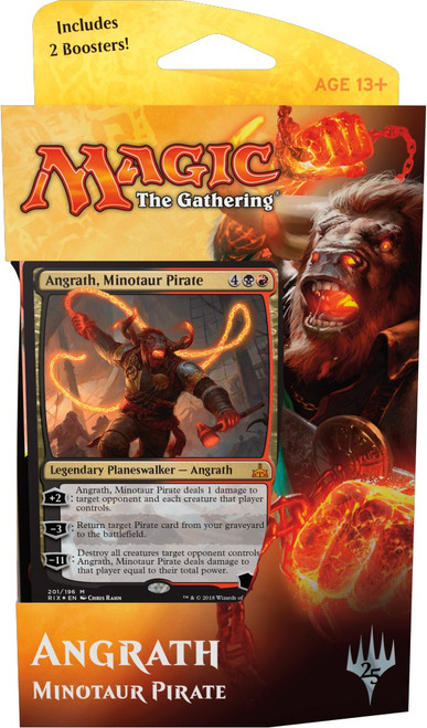 MtG Trading Card Game Rivals of Ixalan Angrath Minotaur Pirate Planeswalker Deck