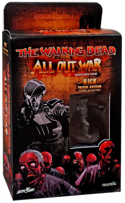 The Walking Dead Walking Dead All Out War Miniature Game Rick Game Booster [Prison Advisor]