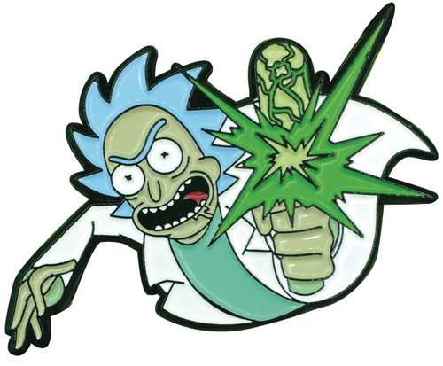 Rick & Morty Point Blank Rick 1.5-Inch Enamel Pin