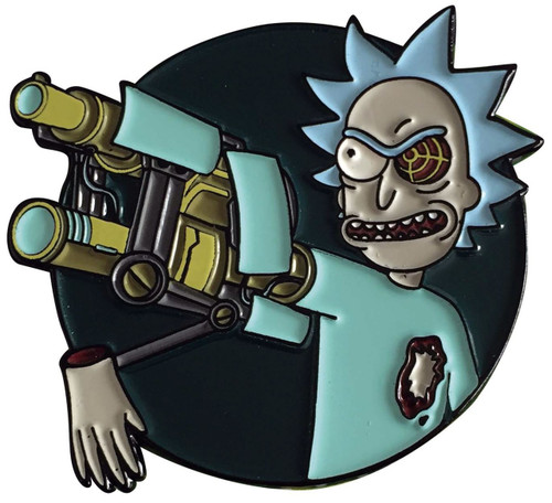 Rick & Morty Bionic Arm Rick 1.5-Inch Enamel Pin