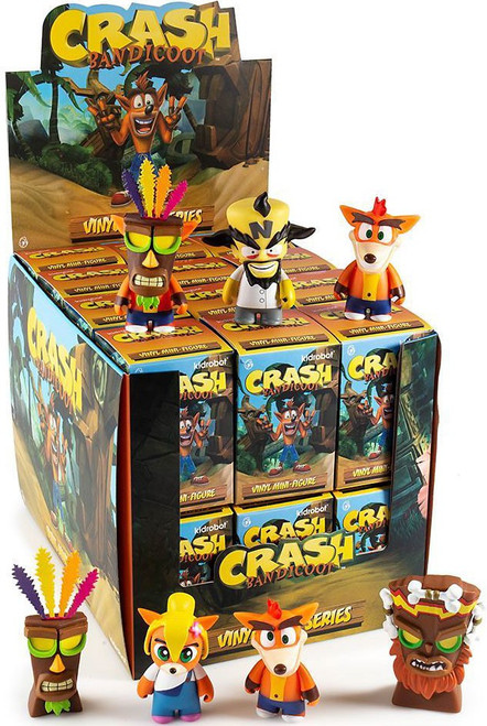 Playstation Vinyl Mini Figure Crash Bandicoot 3-Inch Mystery Box [24 Packs]