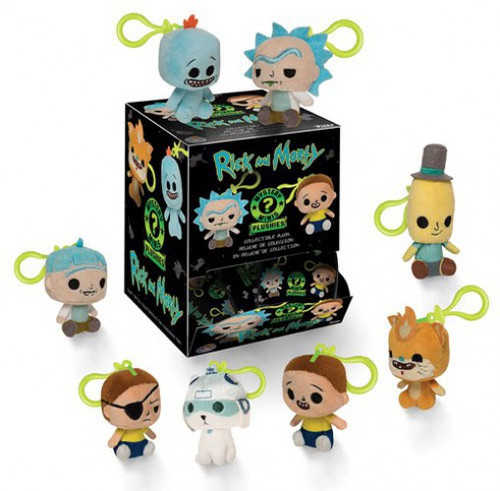 Funko Mystery Minis Plush Keychains Rick & Morty Mystery Box [18 Packs]