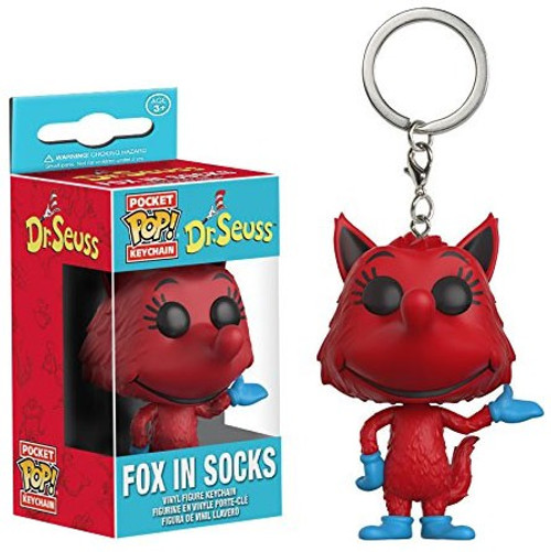 Funko Dr. Seuss Pocket POP! Books Fox in Socks Keychain