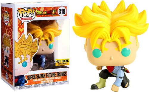 Funko Dragon Ball Super POP! Animation Super Saiyan Future Trunks Exclusive Vinyl Figure #318