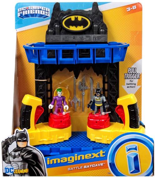 Fisher Price DC Super Friends Imaginext Battle Batcave Figure Set