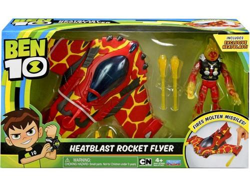 Ben 10 Heatblast Rocket Flyer Action Figure & Vehicle