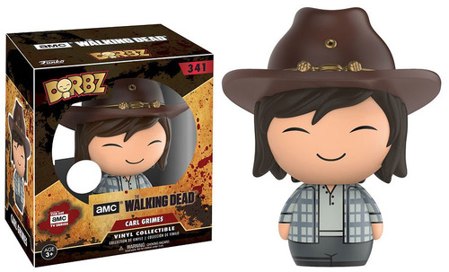 Funko The Walking Dead AMC TV Dorbz Carl Grimes Exclusive Vinyl Figure #341