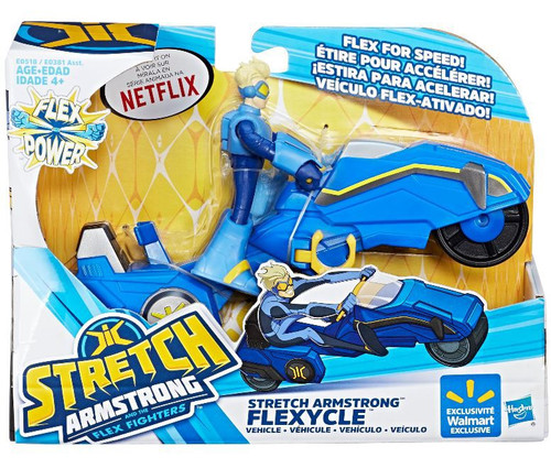 Stretch Armstrong & The Flex Fighters Flex Power Stretch Armstrong Flexycle Exclusive Figure & Vehicle