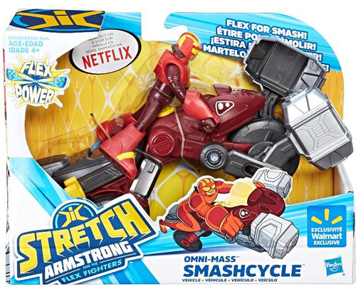 Stretch Armstrong & The Flex Fighters Flex Power Omni-Mas Smashcycle Exclusive Figure & Vehicle