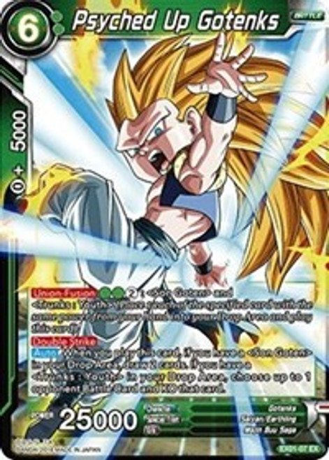 Dragon Ball Super Collectible Card Game Expansion Deck Box Set 1 Promo Foil Psyched Up Gotenks EX01-07
