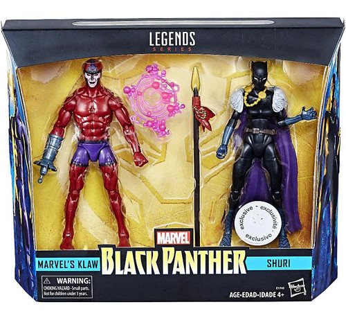 Black Panther Marvel Legends Klaw & Shuri Exclusive Action Figure 2-Pack