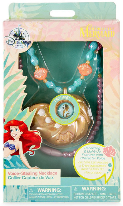 Disney Princess The Little Mermaid Ariel Voice-Stealing Necklace Exclusive Dress Up Toy