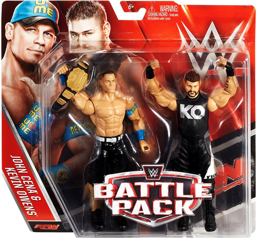 WWE Wrestling Battle Pack Series 39 John Cena & Kevin Owens Action Figure 2-Pack [Damaged Package]
