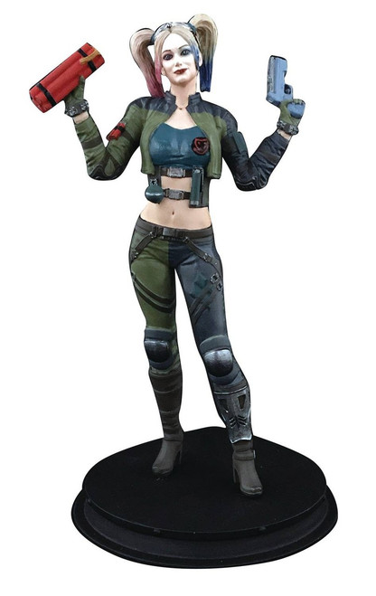DC Injustice 2 Harley Quinn Exclusive 8-Inch Collectible Statue [Green Costume]