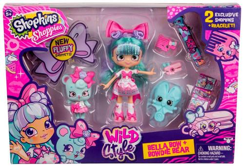 Shopkins Shoppies Season 9 Wild Style Bella Bow & Bowdie Bear Doll