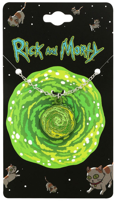 Rick & Morty Spinning Portal Necklace