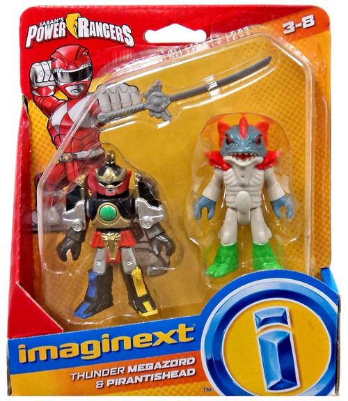 Fisher Price Power Rangers Imaginext Mighty Morphin Thunder Megazord & Pirantishead Mini Figure 2-Pack