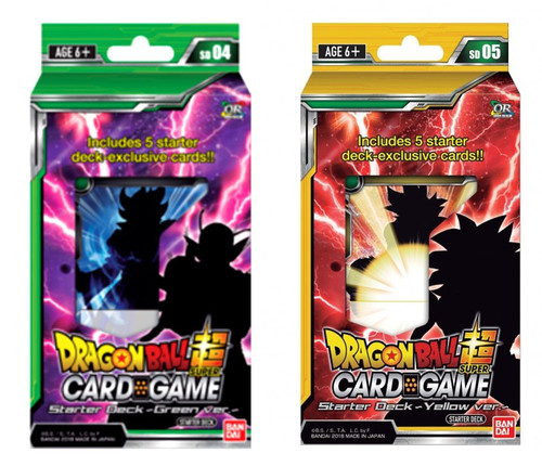 Dragon Ball Super Collectible Card Game Series 4 Guardian of Namekian & Crimson Saiyan Set of Both Starter Packs
