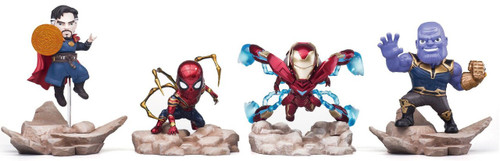 Marvel Avengers Infinity War Mini Egg Attack Iron Man, Dr. Strange, Thanos, and Iron Spider-Man Action Figure 4-Pack EAA-059