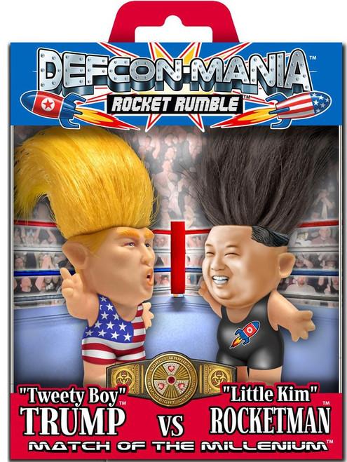"Political ""Tweety Boy"" Trump vs. ""Little Kim"" Rocketman 5-Inch Mini Doll Figure 2-Pack [Defcon-Mania (Rocket Rumble)]"